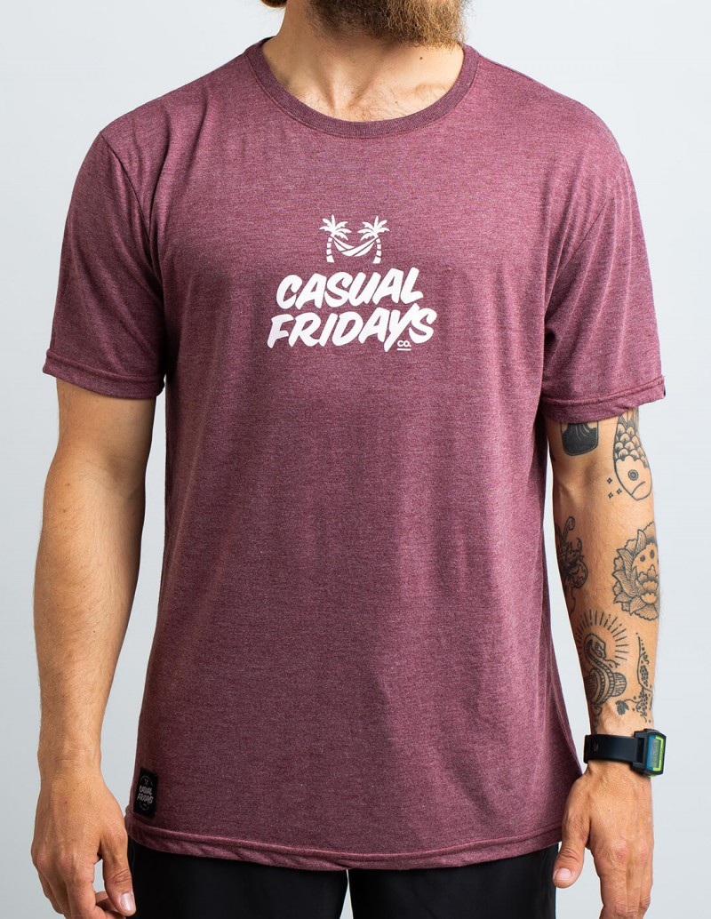 CASUAL FRIDAYS BORDEAUX T-SHIRT